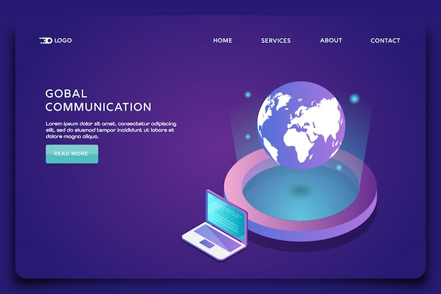 Internet connection landing page template
