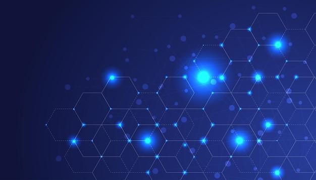 Фон концепции подключения кибербезопасности в интернете