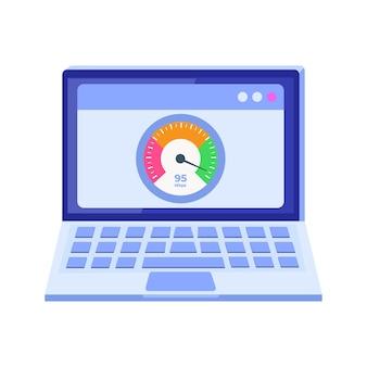 Internet download speed test  concept
