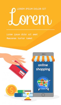 Internet grocery store template