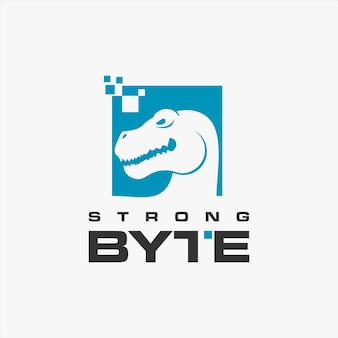 Интернет логотип простой тиранозавр голова