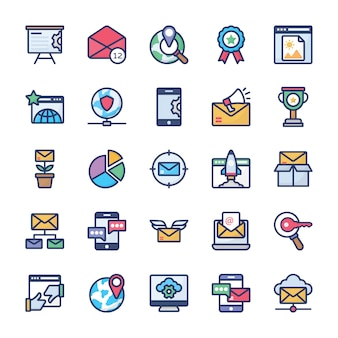 Internet marketing icons collection