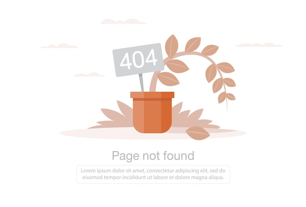 Internet network warning 404 error page or file not found for web page