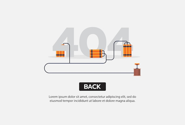 Internet network warning 404 error page or file not found for web page Free Vector