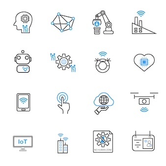 Internet of things and Automation robotic icons