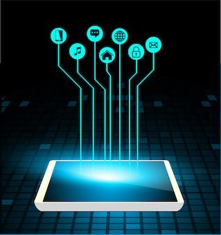태블릿에 사물 인터넷 사이버 기술의 인터넷
