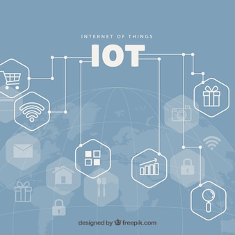 Internet of things conected background