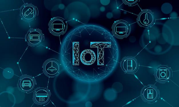 Интернет вещей значок концепции инновационных технологий