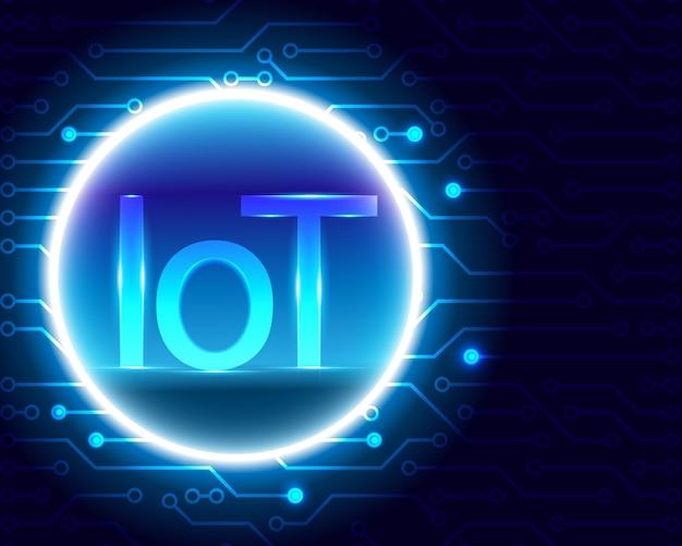 사물 인터넷 (iot) 기술 개념.
