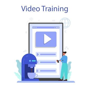 사물 인터넷 온라인 서비스 또는 플랫폼. 클라우드, 기술 및 가정에 대한 아이디어. 현대 글로벌 기술. 비디오 교육.