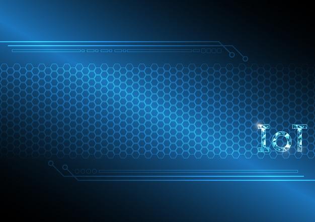 Интернет вещей технологии абстрактный гексагональной фон