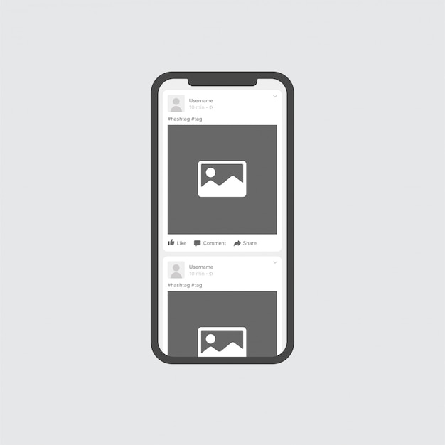 Internet post photo or image frame