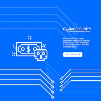 Internet security design with logo and typography vector