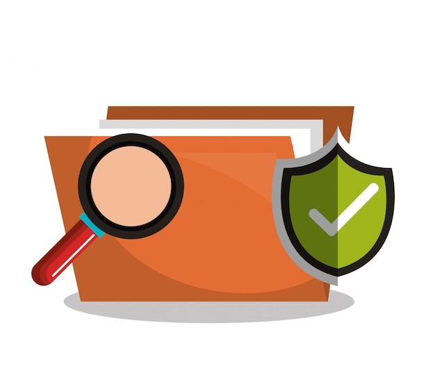 Internet security information icon