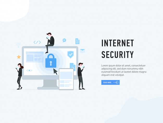 Internet security landing web page