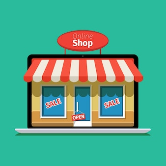 Интернет-магазин концепции. электронная коммерция. интернет-магазин. веб-деньги и платежи. оплата за клик.