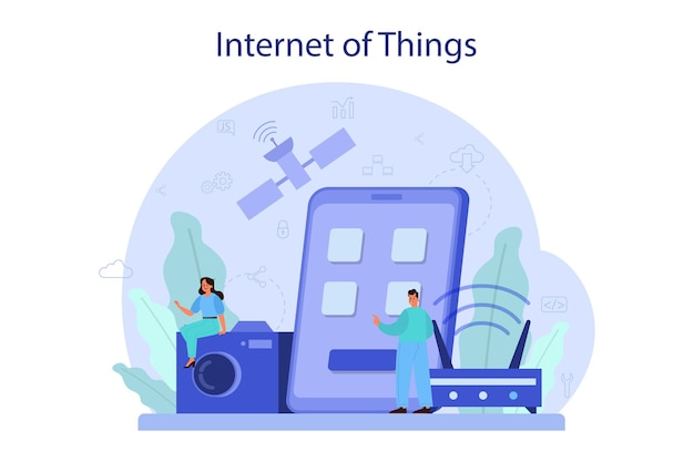 Internet of things concept illustration