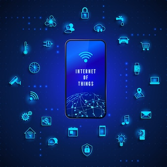 Internet of things global network technology internet control and monitoring