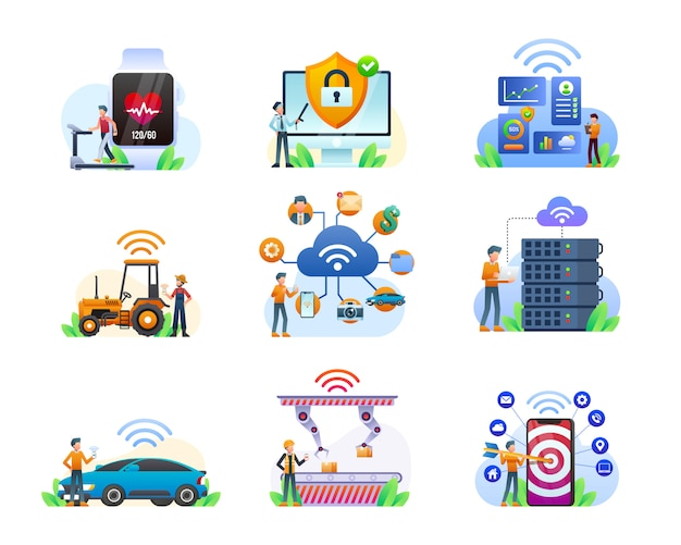 Internet of things illustration collection