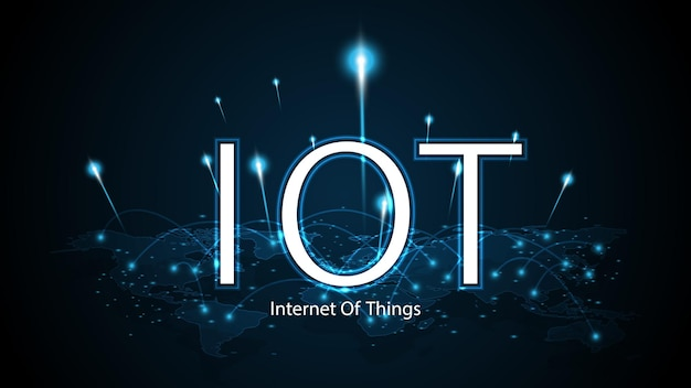 Internet of things. iot connectivity concept. network global connecting technology background