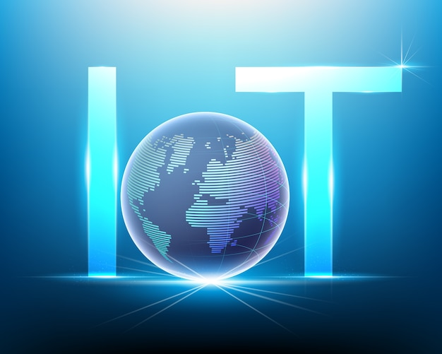 Internet of things (iot) with world concept