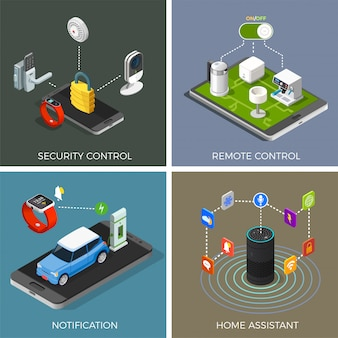 Internet of things isometric concept