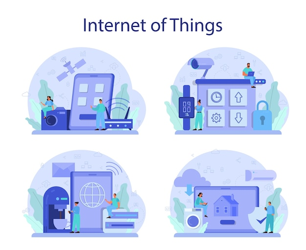 Internet of things set illustration