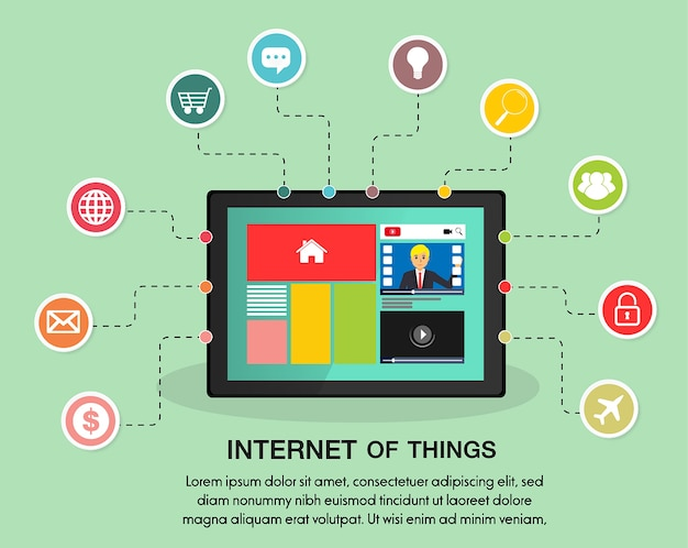 Internet of things on taplet