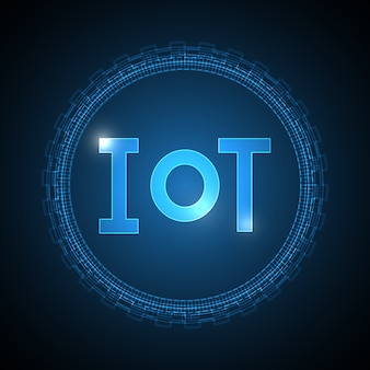 Internet of things technology abstract circle background