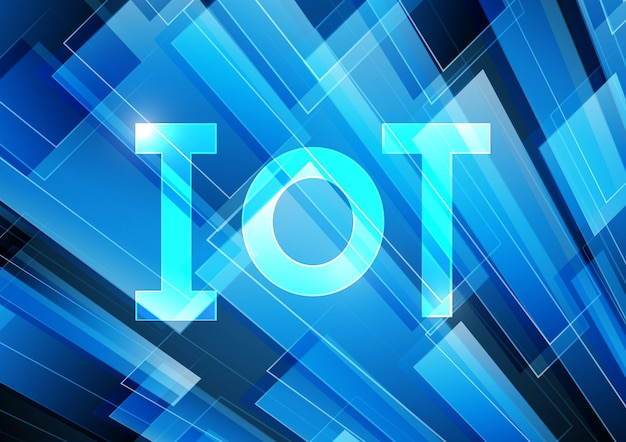 Internet of things technology abstract rectangle background