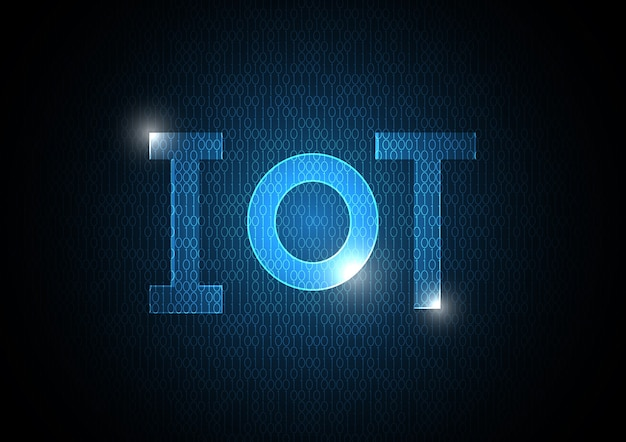 Internet of things technology binary abstract background