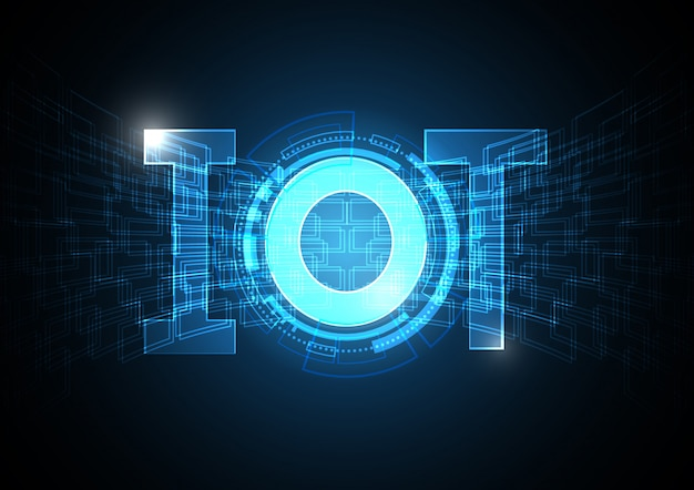 Internet of things technology circle abstract background