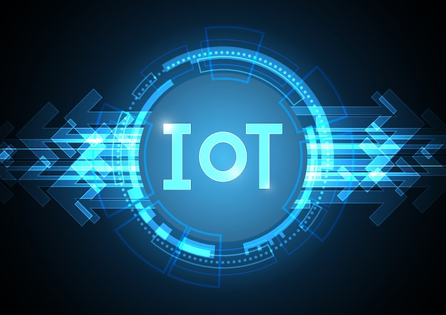 Internet of things technology circle abstract symbol