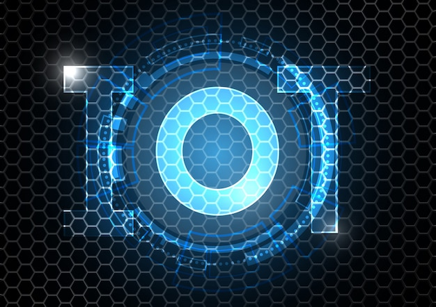 Internet of things technology circle hexagonal abstract background