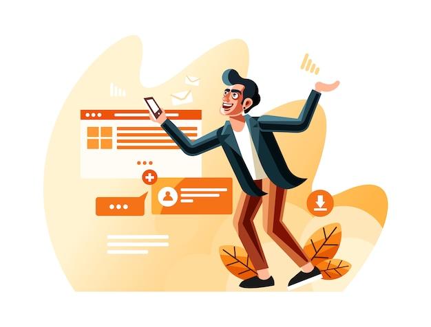 Internet users vector illustration