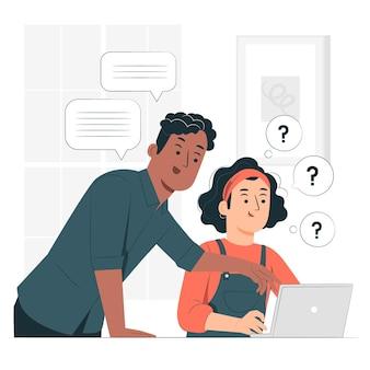 Internship concept illustration