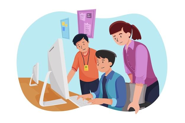 Internship job concept