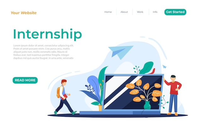 Internship job home page