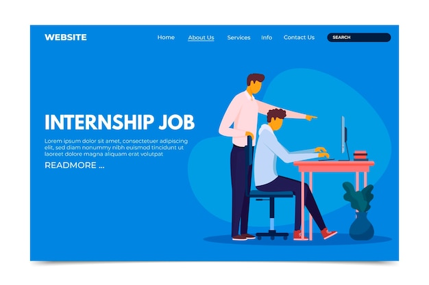 Internship job homepage template