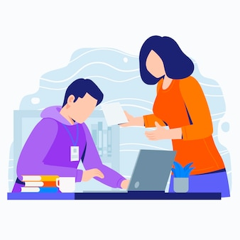 Internship job illustration