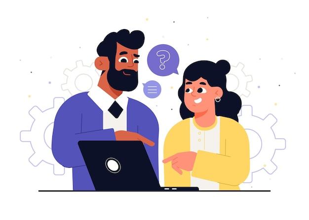Internship job illustration