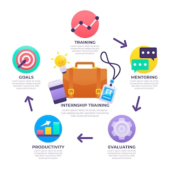 Internship job infographic template