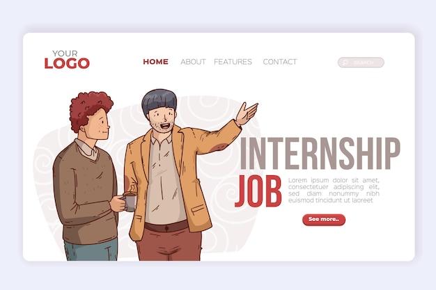Internship job landing page template
