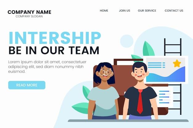 Internship job landing page