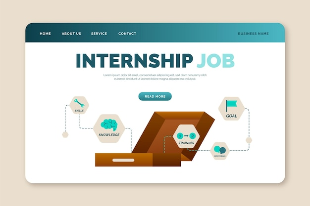 Internship job template landing page