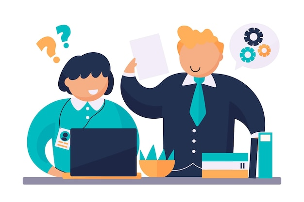 Internship job training illustration