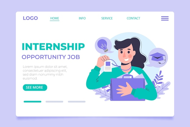 Internship job web template