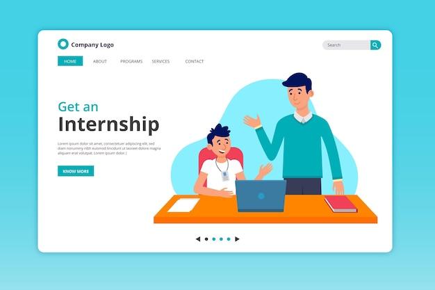 Internship offer landing page