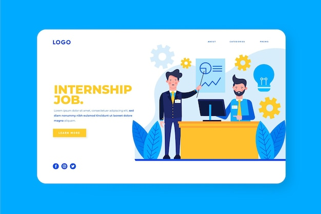Internship program landing page template