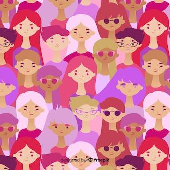 여성 패턴의 인종 그룹